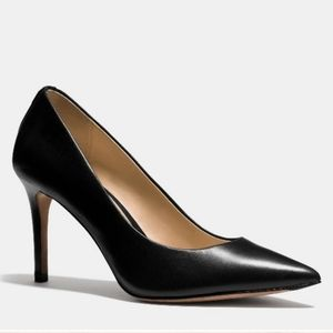 Coach Black Leather Smith Pointed Stiletto Pumps